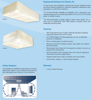 Trion SE800E Commercial Smoke Eater w/ 3-Speed Wall Switch 454030-003C Ceiling Mount Comparison brochure