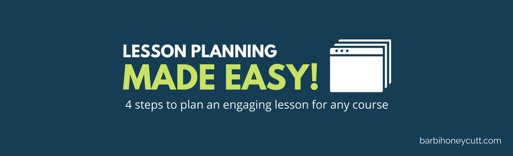 lesson planning made easy barbi honeycutt college teaching