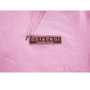 Obleceni Hooded Sweatshirt (Lavender/Leather Logo)