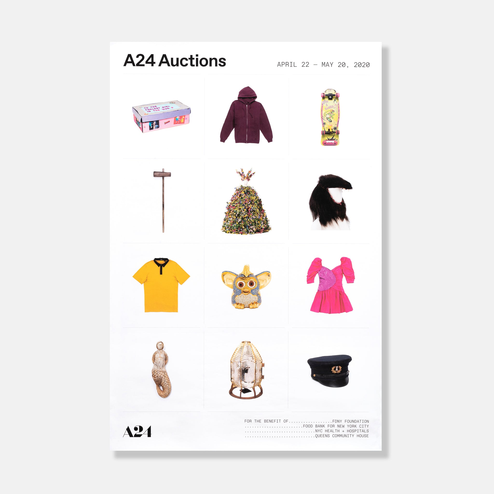 A24 Auctions Benefit Poster