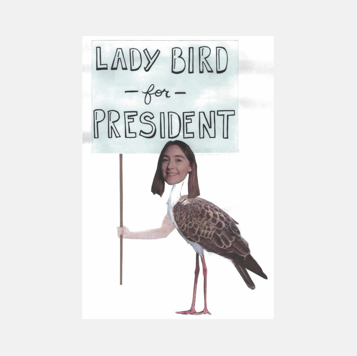 graphic about Printable Poster named Girl Chook For President Printable Posters A24 Store
