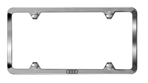 Polished SS License Plate Frame w/ Audi Logo