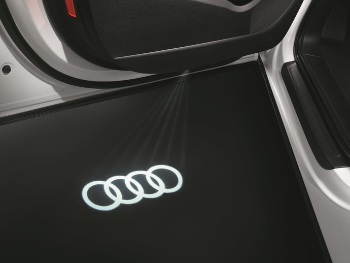 Door Beam Light Set (2) Audi Logo