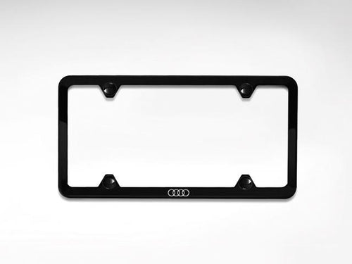 Black SS License Plate Frame w/ Audi Logo