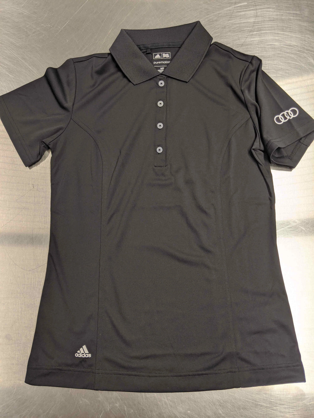 Womens Black Adidas Short-sleeve Polo Shirt
