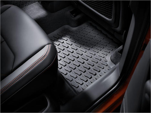 2019+ Q3 All Weather Rubber Rear Floor Mat Set