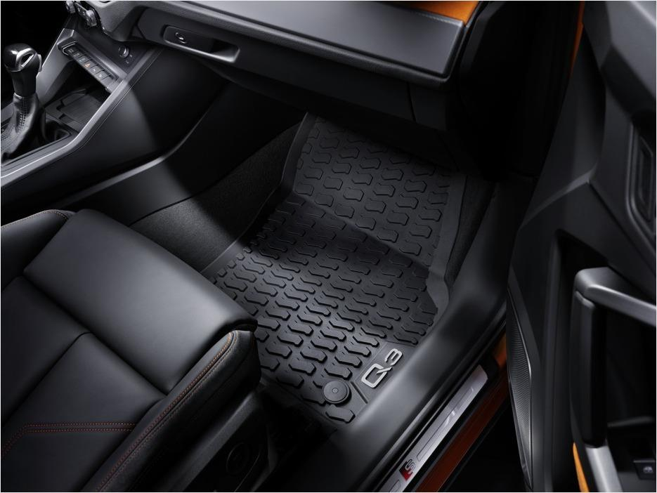 2019+ Q3 All Weather Rubber Front Floor Mat Set