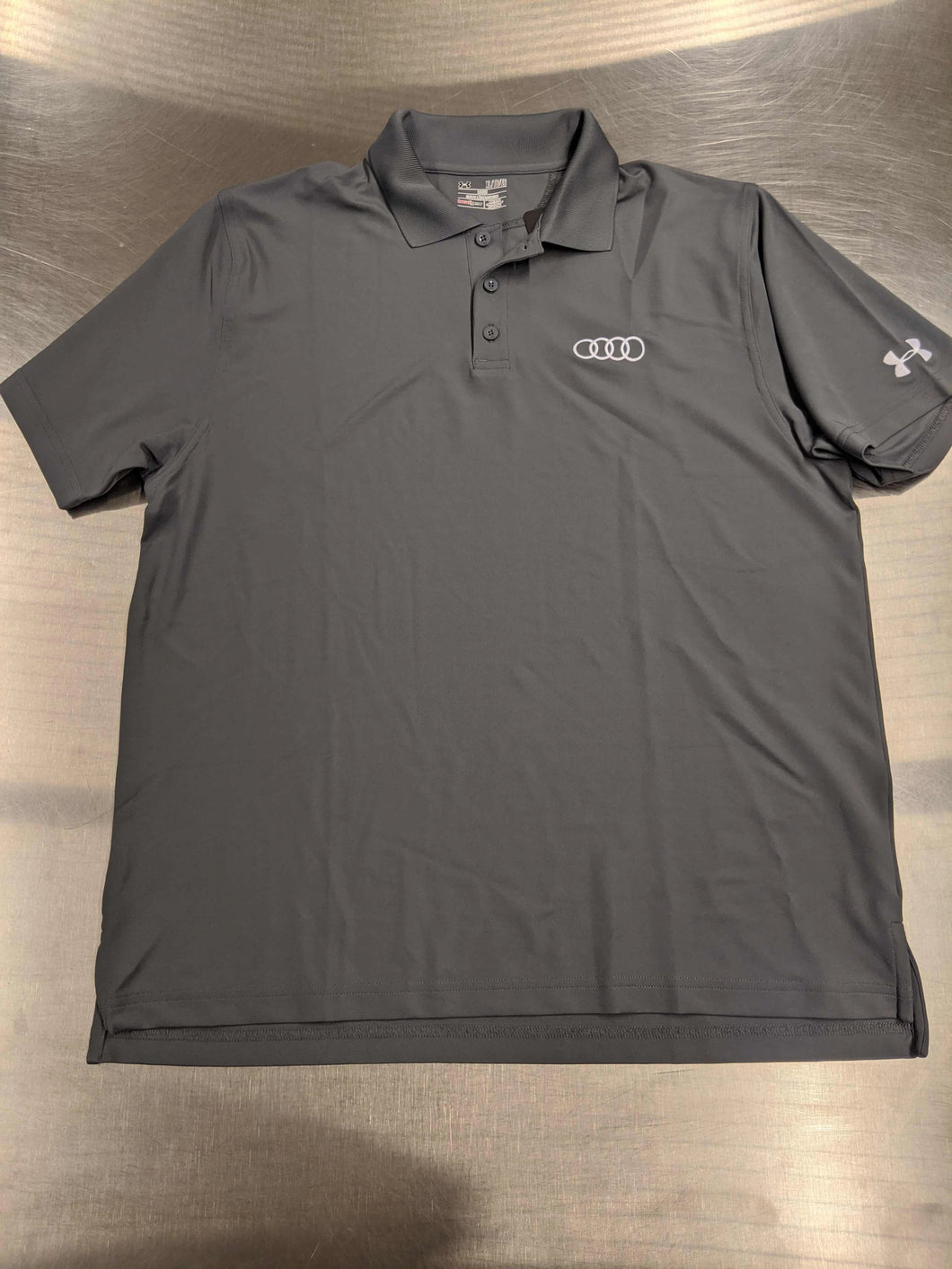 Mens Grey Under Armor Polo