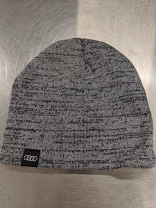 Grey Double Knit Melange Tuque