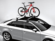 Load image into Gallery viewer, Aluminum Bike Holder for Roof Rack Base Carrier Bars