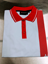 Load image into Gallery viewer, Men's Audi Sport White/Red Polo