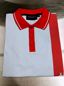 Men's Audi Sport White/Red Polo