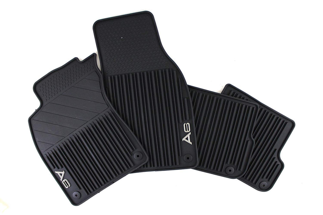 2019+ A6 All Weather Rubber Front Floor Mat Set