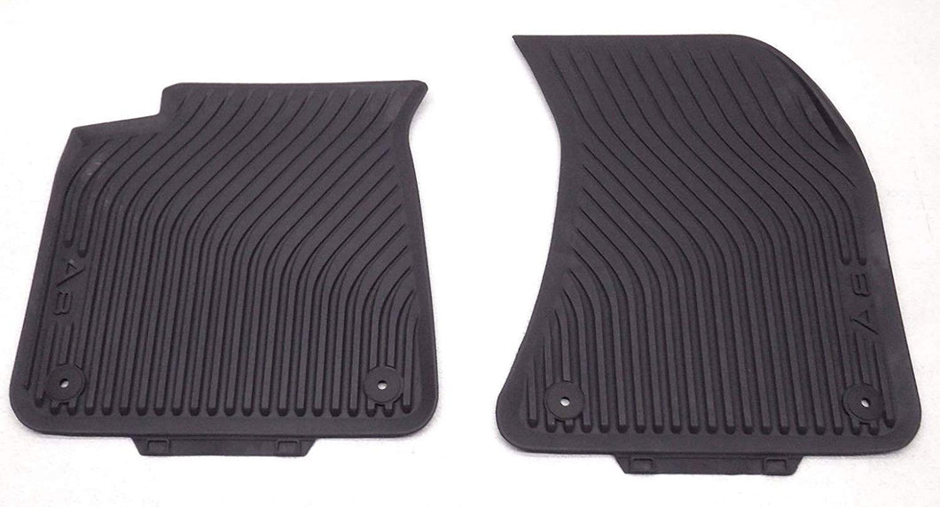 <2018 A8/S8 All Weather Rubber Front Floor Mat Set