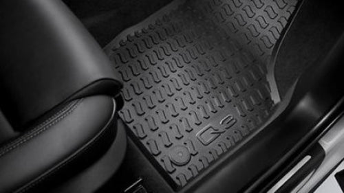 Q3 All Weather Rubber Rear Floor Mat Set