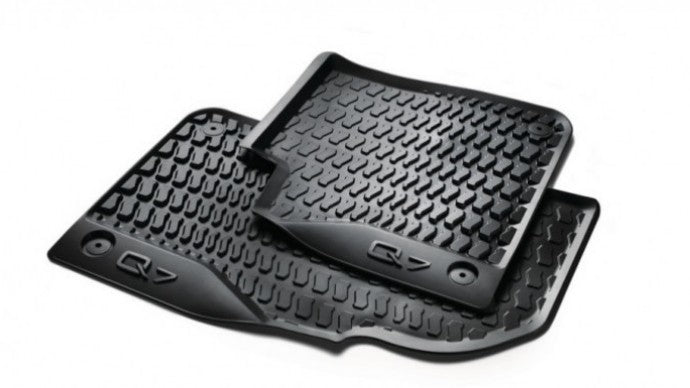 2017+ Q7 All Weather Rubber Front Floor Mat Set