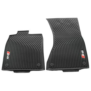 <2018 S6 All Weather Rubber Front Floor Mat Set
