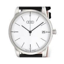 Load image into Gallery viewer, Women's White Faced Watch w/ Black Leather Band- CLEARANCE