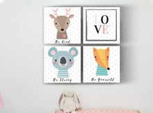 Kids Room Wood Tile Animals
