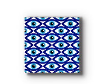 Evil Eye Wood Tile