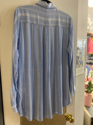 Blue & White Stripe Blouse - Tiggs