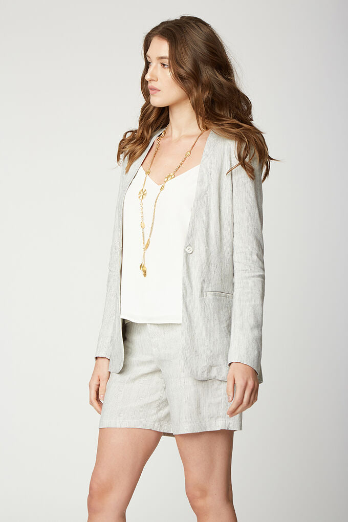 Collarless Blazer - Tiggs