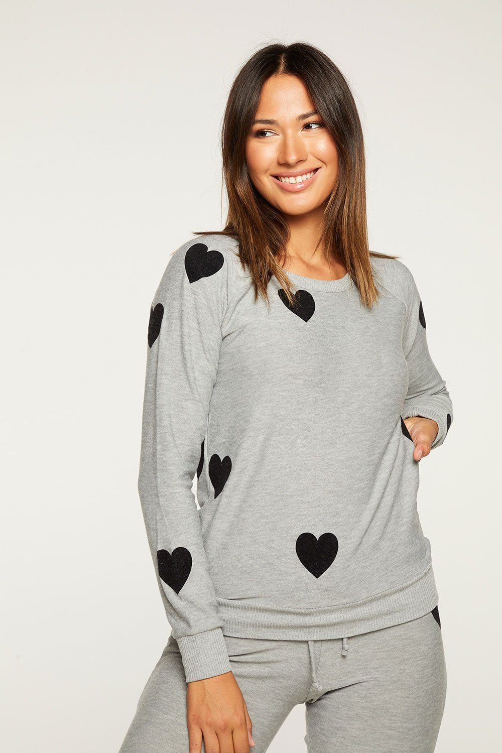 Flocked Hearts Sweater - sale -