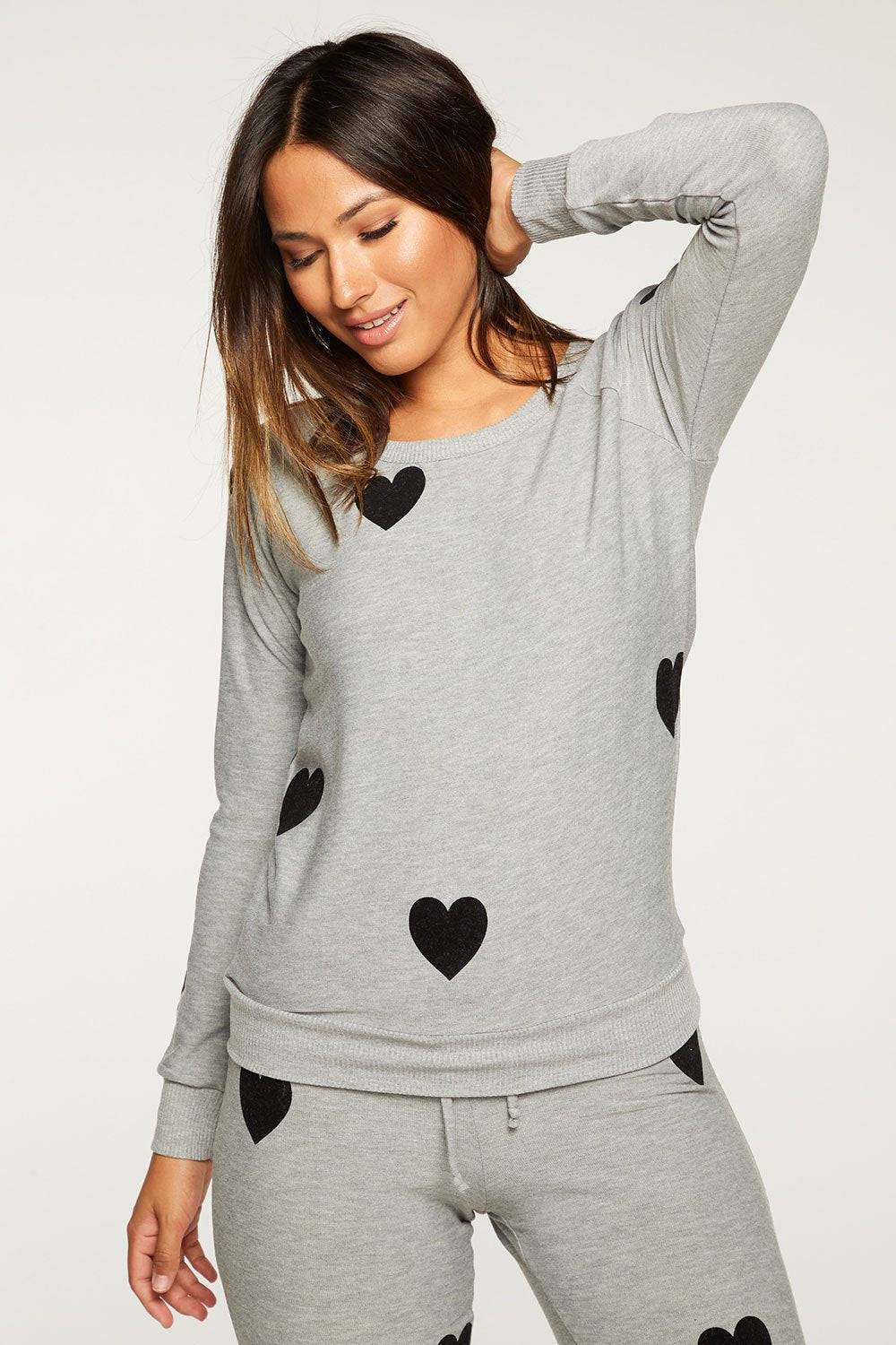 Flocked Hearts Sweater