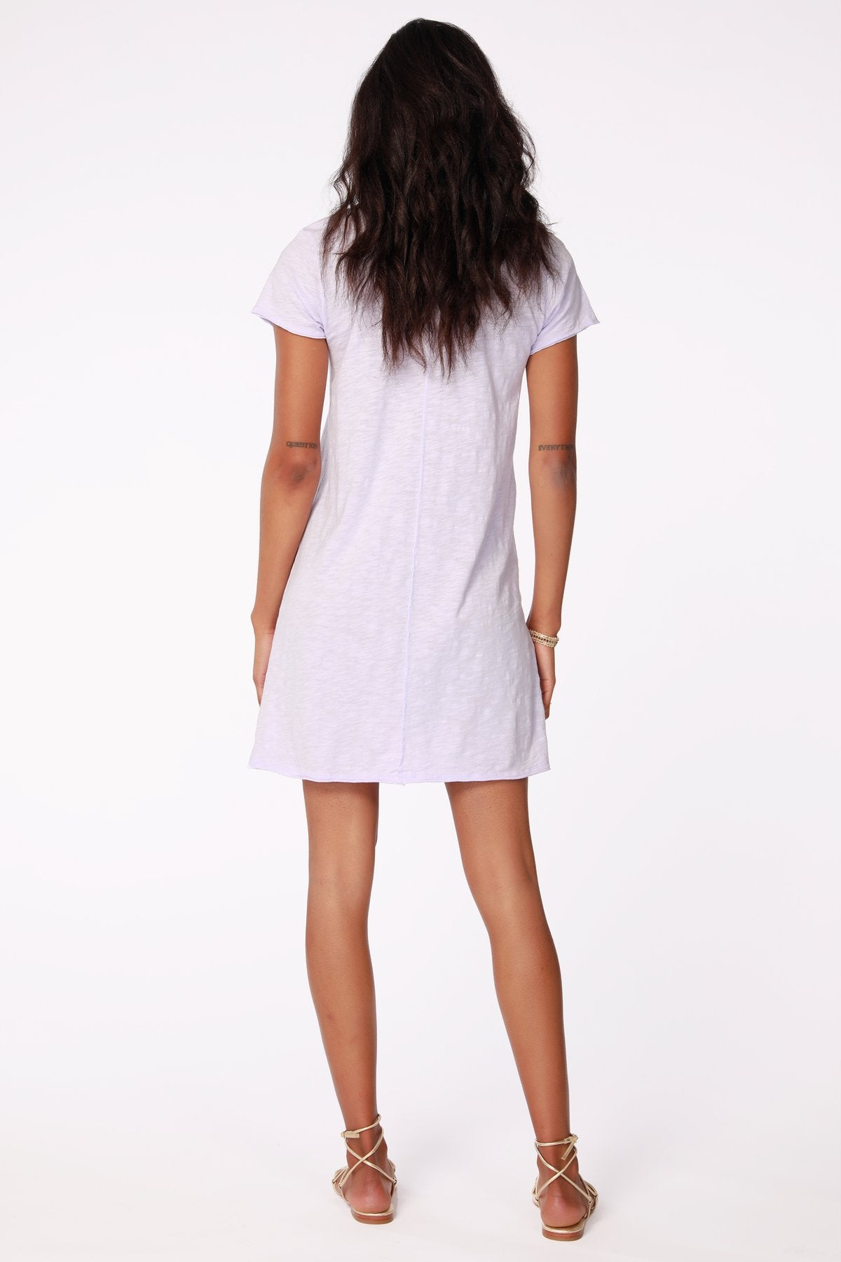 Center Seam T-Shirt Dress - Lilac