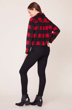 Plaid Moto Jacket
