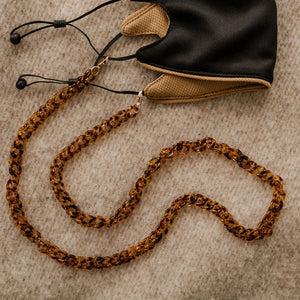 Tess Mask Chain - Tortoise Shell