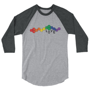 Love 3/4 sleeve raglan shirt