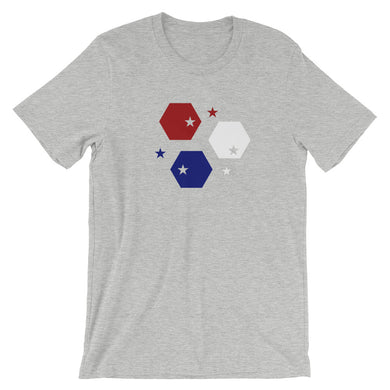 Red White and Blue honeycomb Short-Sleeve Unisex T-Shirt