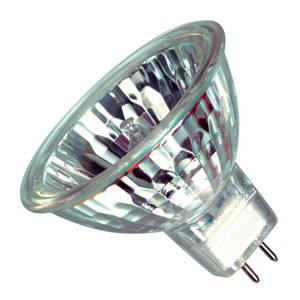 Casell Aluminium Reflector 35w 12v GU5.3 Casell Lighting 51mm 38° Glass Covered Light Bulb