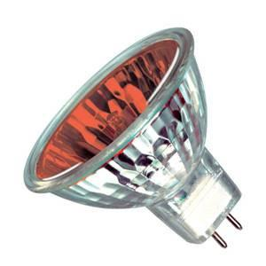 Halogen Spot 20w 12v GU5.3 Casell Lighting 35mm MR11 10° Red Dichroic Reflector Light Bulb