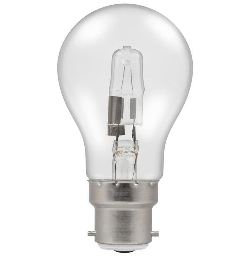 Casell GL28BC-H-CA - GLS 28w B22d/BC 240v Energy Saving Halogen Bulb. 55mm. Replaces 40w Bulb