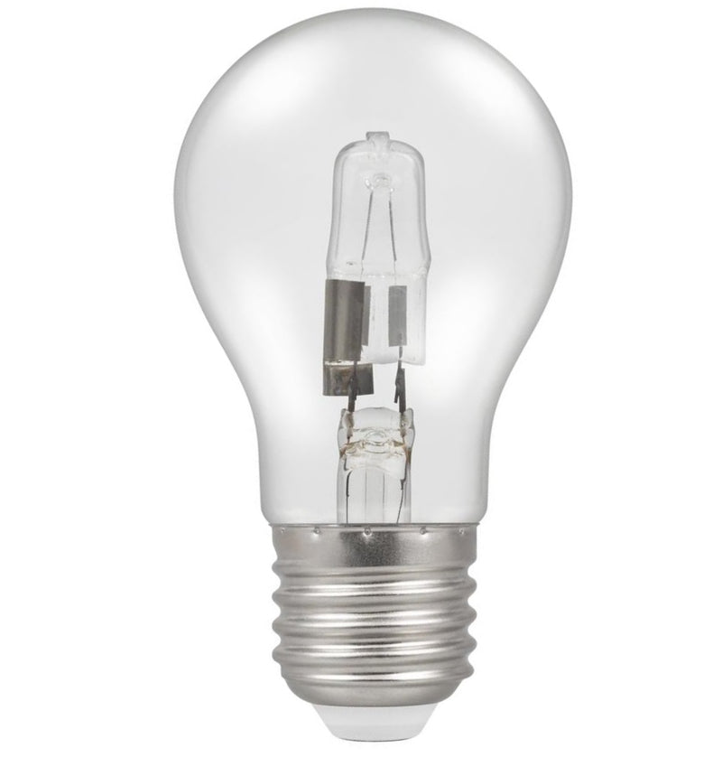 Casell GL28ES-H-CA - GLS 28w E27/ES 240v Energy Saving Clear Halogen Bulb 55mm Replaces 40w Bulb