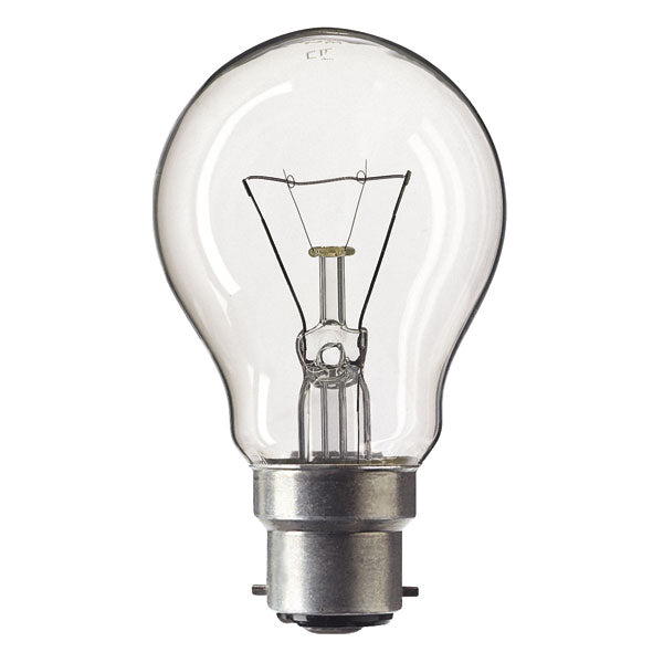 GLS 60W Light Bulb BC / B22 - Clear - 50v