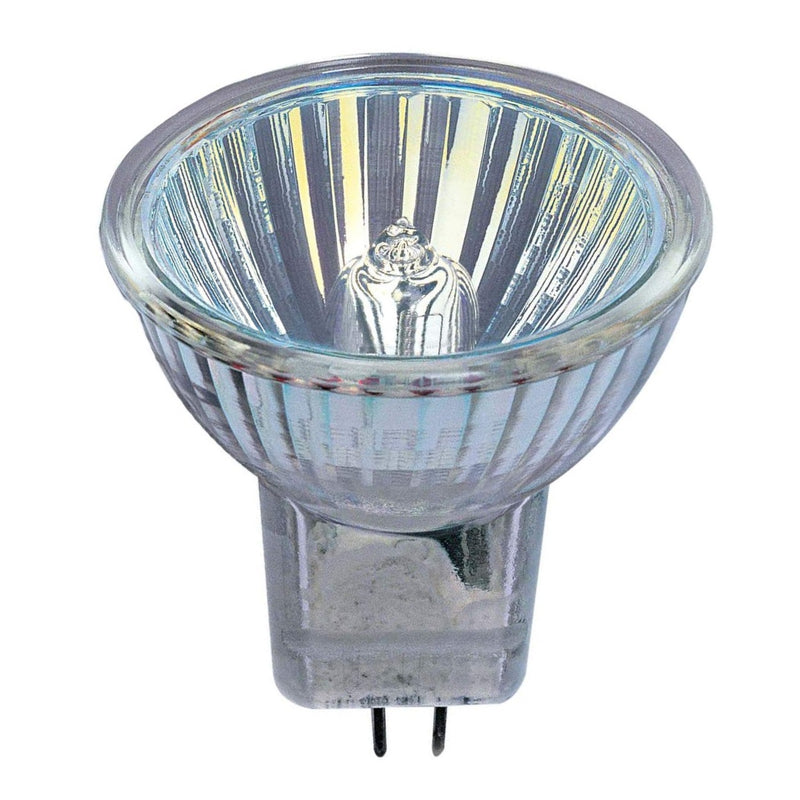 Pack of 10 - Halogen Spot 35w 12v GU4 Casell Lighting MR11 35mm 30° Dichroic Light Bulb Glass Front