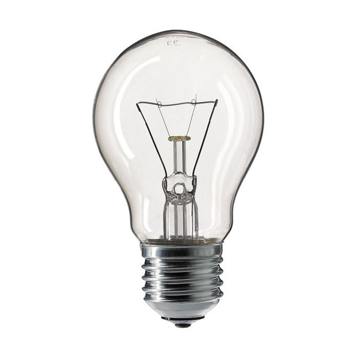 GLS 60W Light Bulb ES / E27 Light Bulb - Clear - 50v