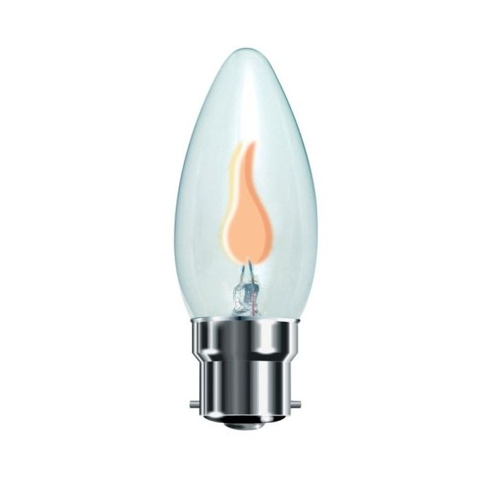 Flicker Flame Candle Bulb 3W BC / B22