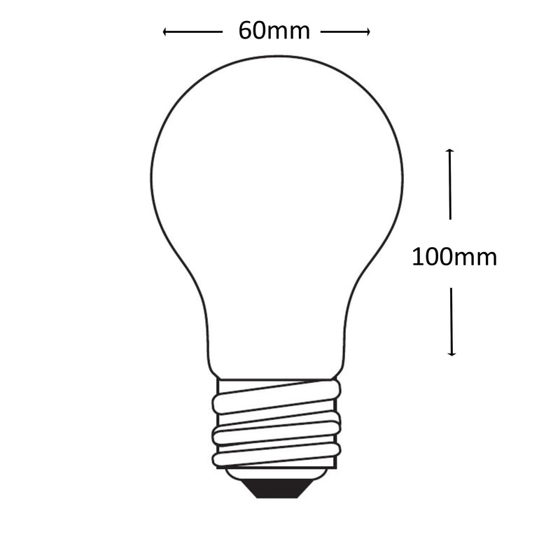 Casell Filament LED A60 GLS Pearl 240v 8w E27 750lm 2700°k Dimmable - 0635635589196