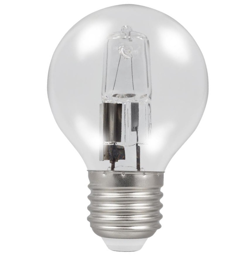 Casell GB28ES-H-CA - Golf Ball 28w E27/ES 240v Clear Energy Saving Halogen Light Bulb - 45mm