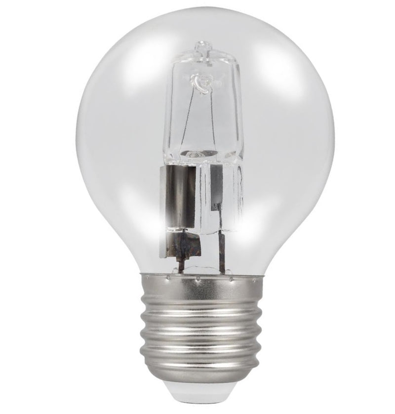 Casell GB42ES-H-CA - Golf Ball 42w E27/ES 240v Clear Energy Saving Halogen Light Bulb - 45mm