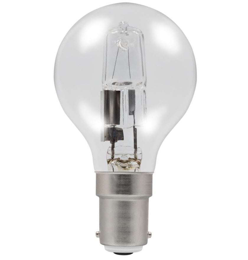 Casell GB28SBC-H-CA - Golf Ball 28w Ba15d/SBC 240v Clear Energy Saving Halogen Light Bulb