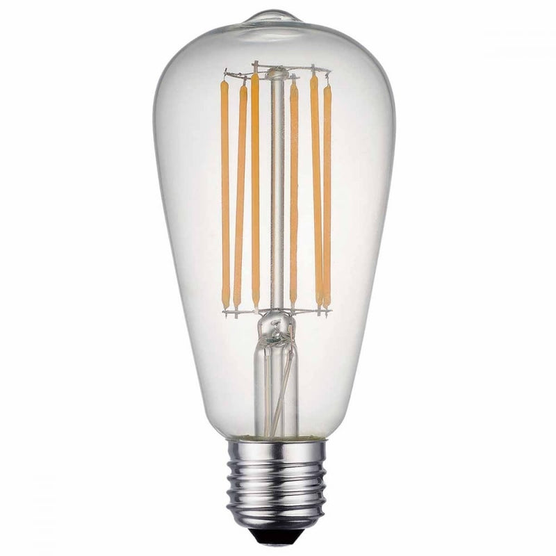 "Casell NAVL8ES-82DP-CA -  Filament LED ST64 ""Edison"" 240v 8w E27 850lm 2800°k Dimmable"
