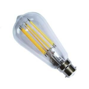 "Casell Filament LED ST64 ""Edison"" 240v 8w B22d 850lm 2700°k Dimmable - 0635635589219"