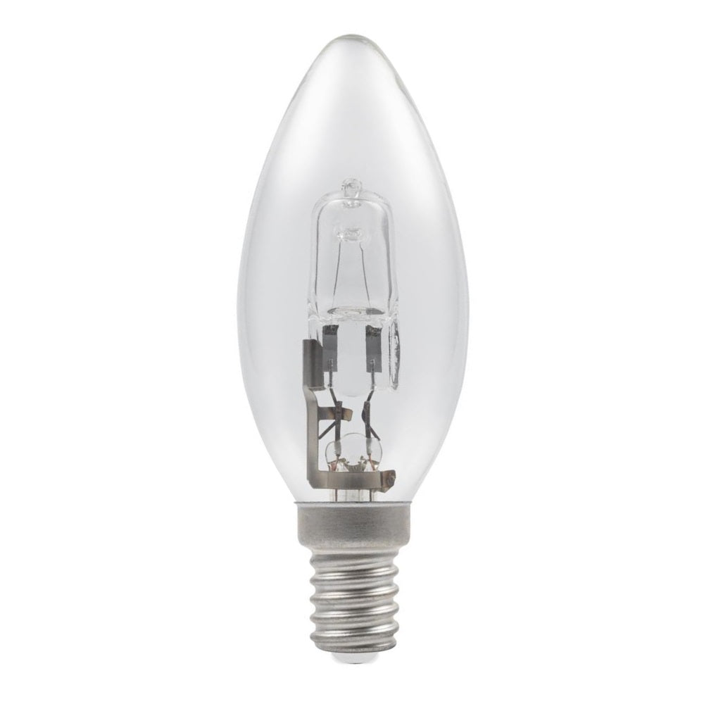 Casell C18SES-H-CA - Candle 18w E14/SES 240v Clear Energy Saving Halogen Light Bulb - 35mm