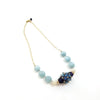 Lamp-work Glass and Natural Stone Necklace