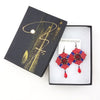 Grand Crimson Mucha Earrings